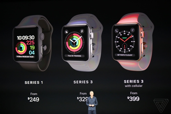 Apple Watch 3代售价公布!中国首发:支持联通4G