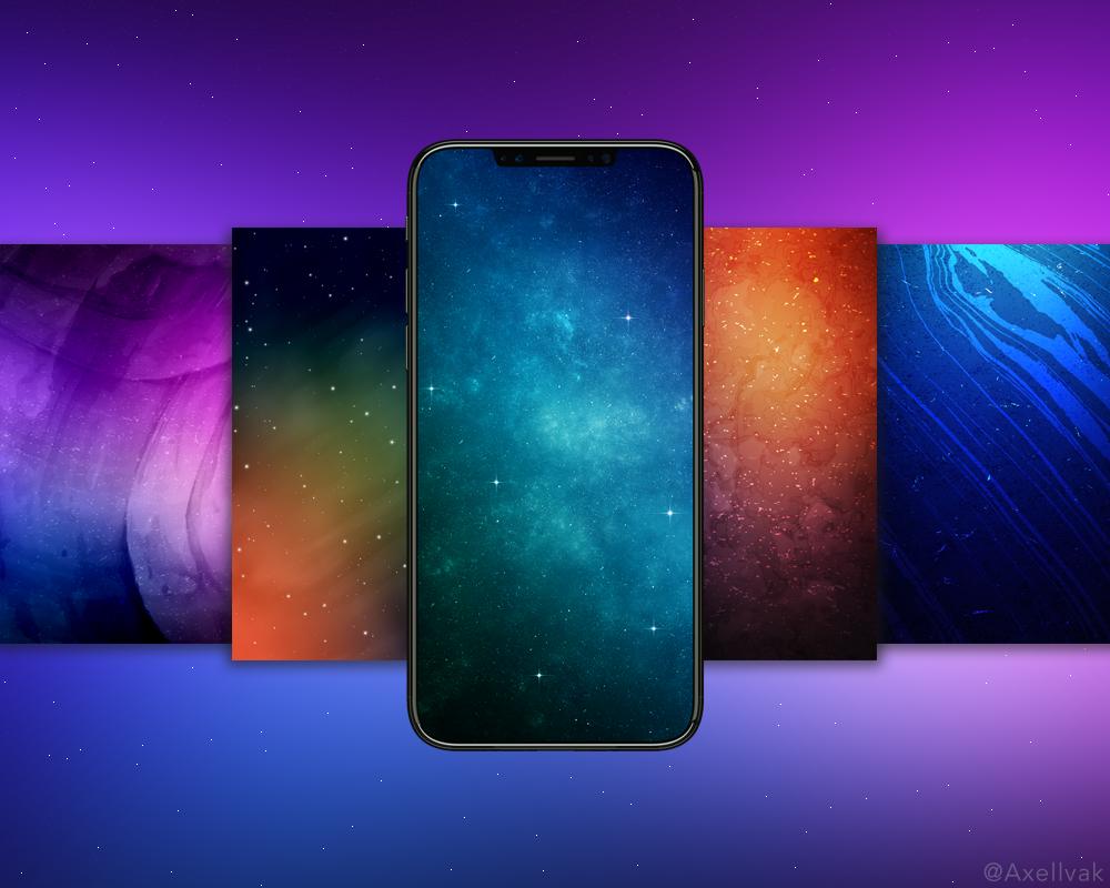 """iphone x自带壁纸:没有""""刘海""""世界都清爽了图片"""