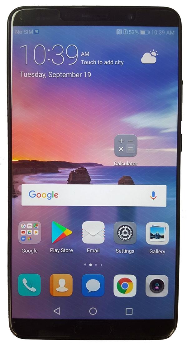 配正面指纹!华为Mate 10 Pro点亮屏幕:全面屏设计似S8
