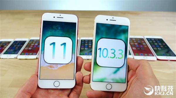 iPhone 5S/6/6S/SE/7 iOS11升级前后速度对比:老款悲催