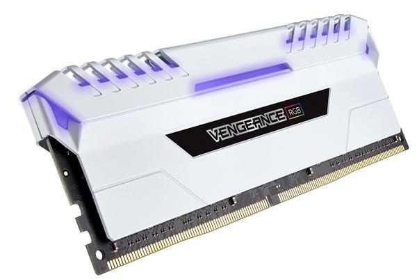 128GB 9988元!海盗船Vengeance顶级内存推新:白色散热片配RGB灯效