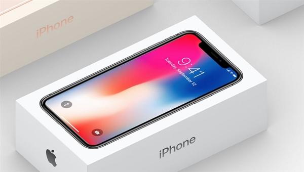 iPhone X包装盒照片意外现身苹果官网:刘海扎眼