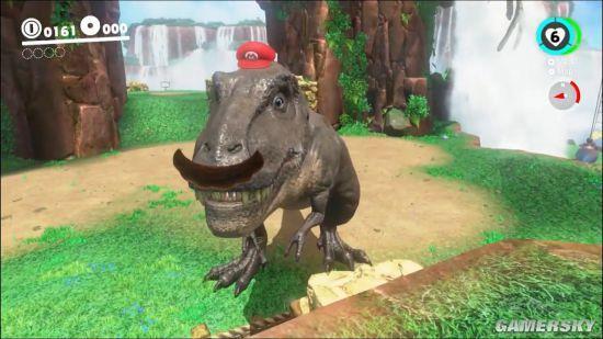 《超级马里奥:奥德赛》新演示 马里奥变身大恐龙