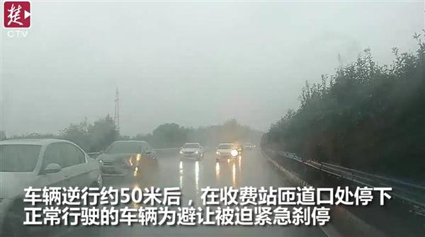 高速路逆行引四车连撞 女司机惊呼要赔三辆车