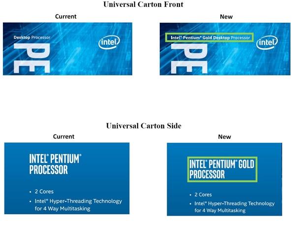 Intel突然发布奔腾金牌处理器:Kaby Lake桌面改名而来