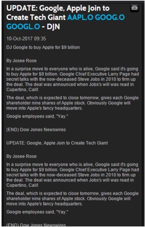 美国权威财经媒体搞乌龙:谷歌宣布收购苹果