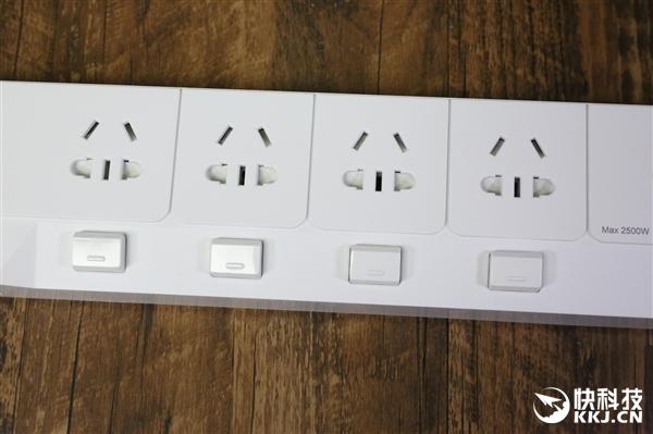 奥睿科智能插线板OSJ-4A5U开箱图赏:5个USB达40W