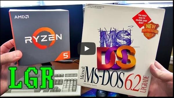 Ryzen+SSD平台装回微软DOS系统:画面太美