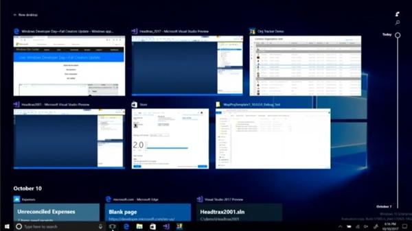 Windows 10系统级时间轴界面曝光:明年上线