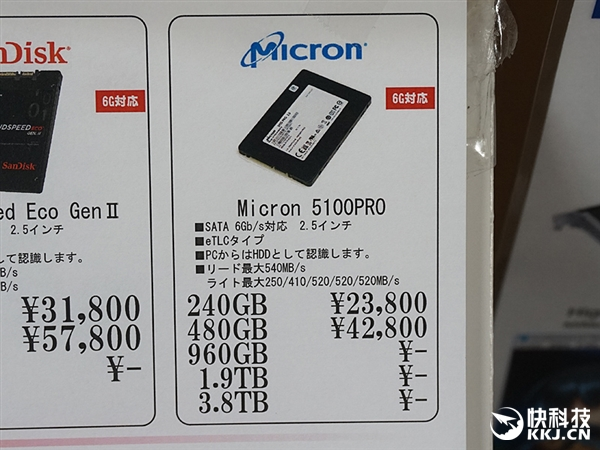 3.8TB 1.8万元!美光SSD 5100 RPO开卖:罕见eTLC闪存