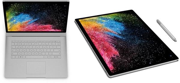 微软:Surface Book 2快了500% 性能是新MBP的两倍