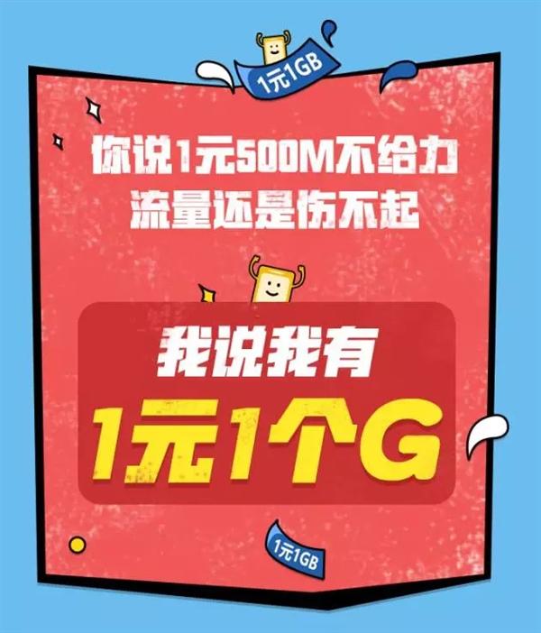 价格无敌了!腾讯大王卡重磅升级:流量1元1GB