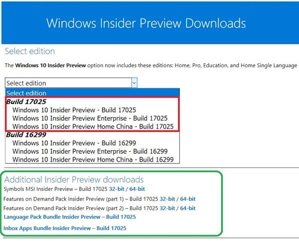 免费下载:Windows 10 RS4首个ISO镜像17025发布