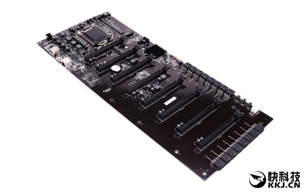 七彩虹再造纯挖矿主板:直插八块显卡 CPU靠扩展