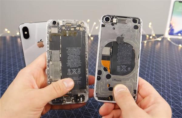 手机中心手工新闻疯狗大神>国外平板苹果打造iphonex透明版:亮屏安卓手机加速器图片