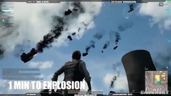 《绝地求生》中同时引爆数十辆车 就像世界末日