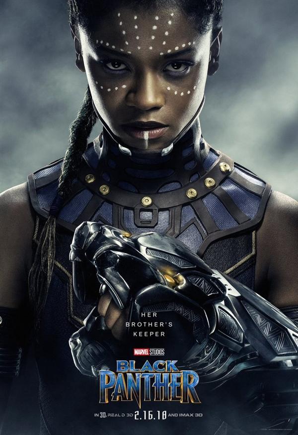 《黑豹》全角色性感海报 国王领衔黑女神华生乱入