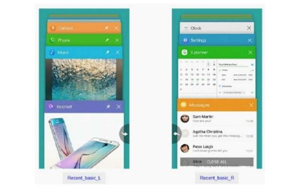 三星可折叠手机Galaxy X系统UI曝光:双屏拼接