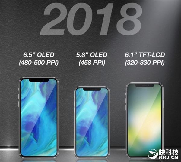 2018 iPhone三款齐曝光!6.8/6.1/5.8寸各不同