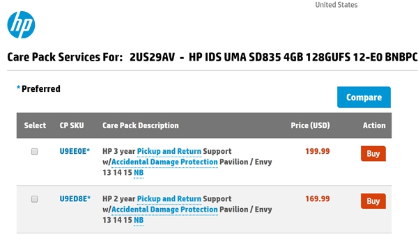 惠普官网现身首款骁龙835 Win10笔记本:12寸、8G内存