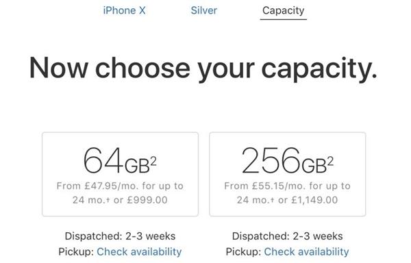 iPhone X国行发货提速:2到3周