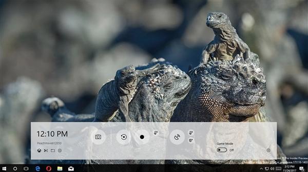 Windows 10 RS4上线新游戏栏:半透明、功能强化