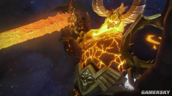 《魔兽世界》燃烧王座通关动画曝光 萨格拉斯临终一剑图片