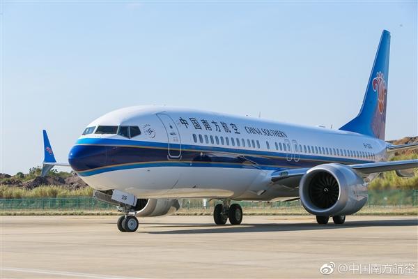 C919大飞机劲敌!南航第一架波音737 MAX 8客机首飞:细节完美