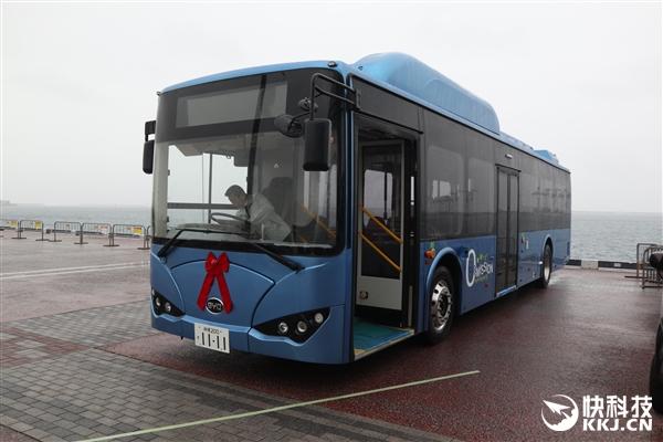 征服日本!比亚迪电动大巴K9实拍:车长12米 能当超级电源