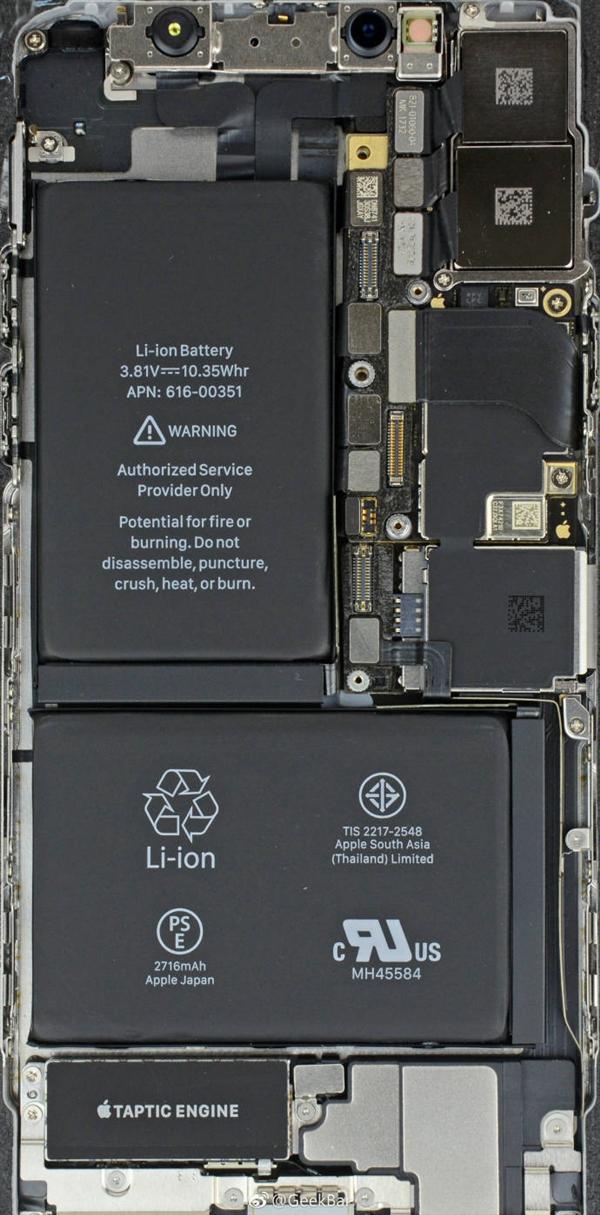 iPhone X/三星Note 8内部做工对比:看完被吓到了