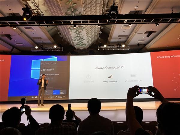 骁龙835 Win10笔记本爆发:永远在线 无需关机