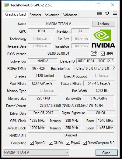 NVIDIA Titan V性能首曝:地球都要抖三抖!