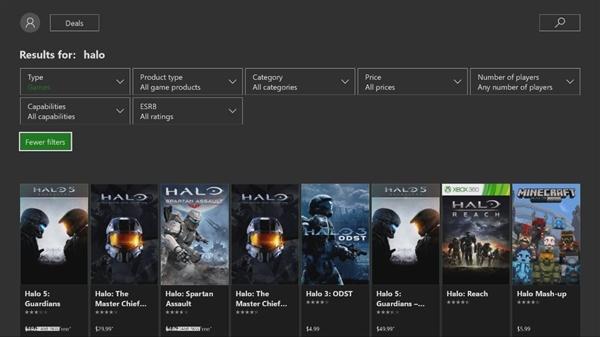 迟到的必备功能!Xbox商店正式支持按价格/评级排序