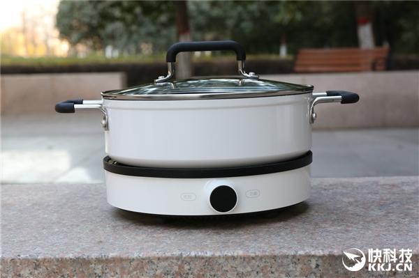 米家电磁炉、汤锅开箱图赏:99档火力/数模双显
