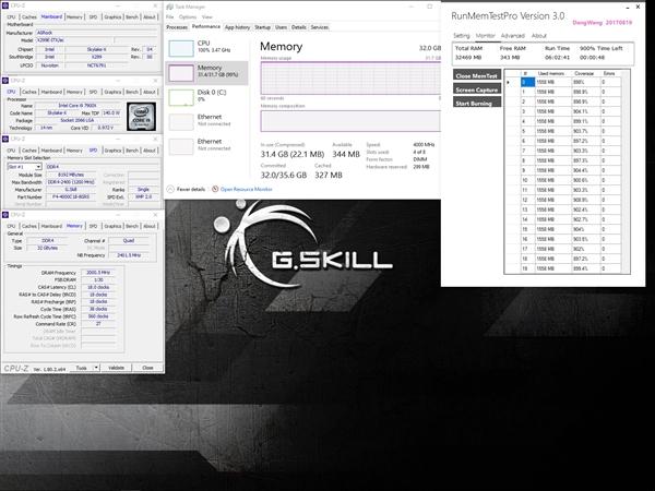 芝奇闪电刷新世界最快本本内存:32GB DDR4-4000 CL18