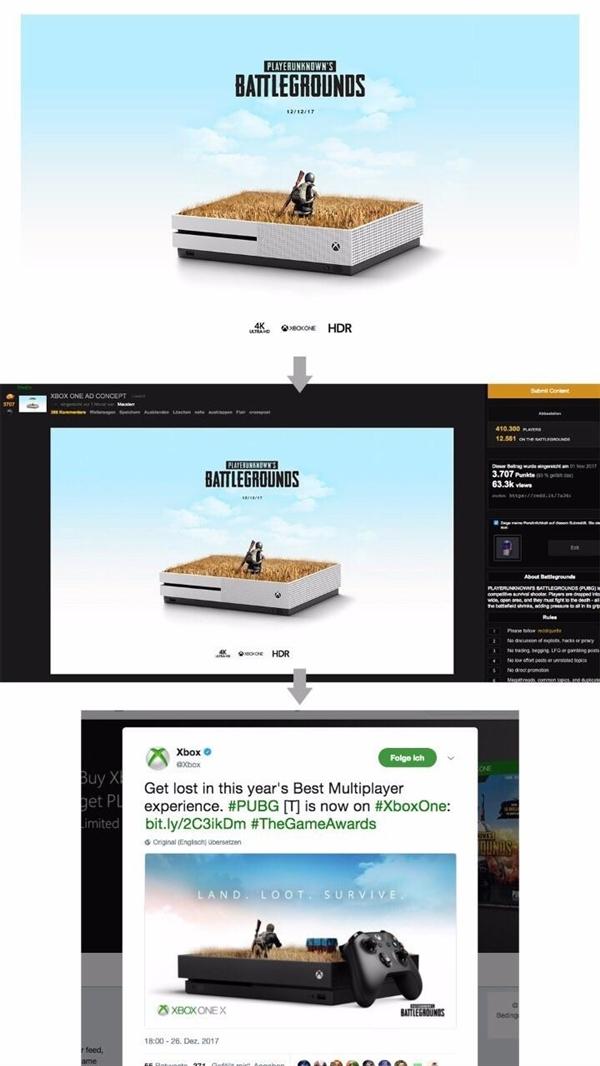 艺术家指责Xbox《绝地求生》海报抄袭:这也太像了