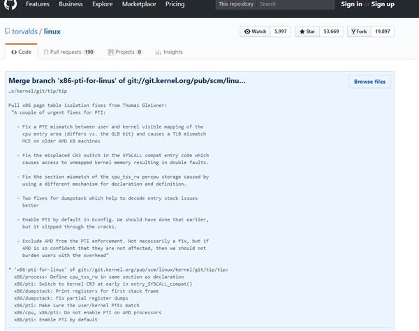 Linux修正内核:Intel打补丁性能狂降、AMD不受影响