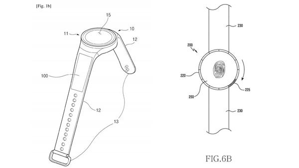 表带电池+屏下指纹 三星智能手表新专利泄露