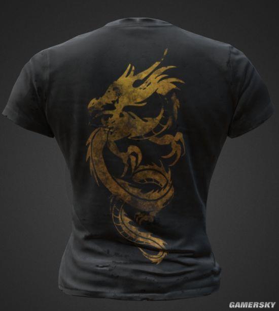 《绝地求生》国服限定T恤曝光:青花瓷还有中国龙