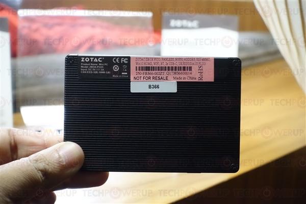 6W赛扬!索泰秀最小PC Pico PI226:堪比移动硬盘