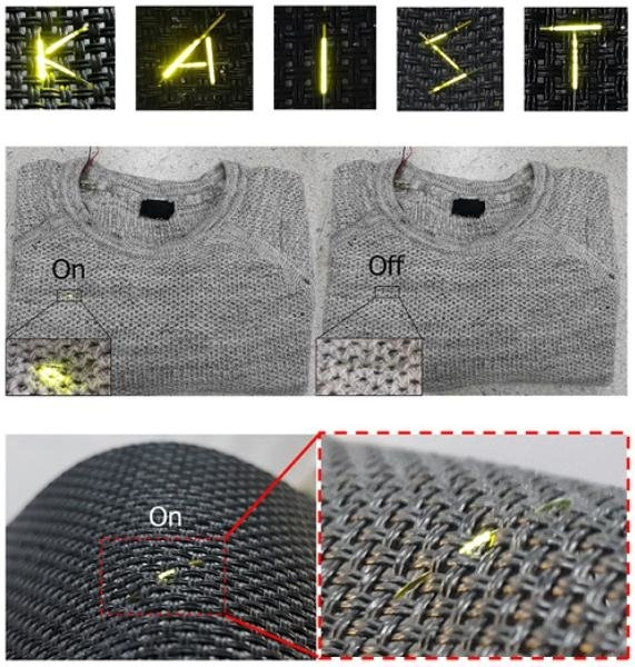 韩研发新型OLED:可做衣服 比头发丝还细