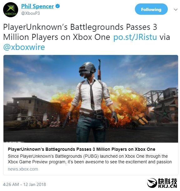 《绝地求生》Xbox版人气爆棚