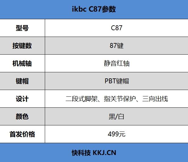 ikbc C87键盘评测:静音红轴加持 安静的手指伴侣