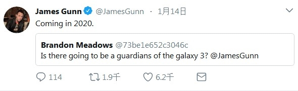 系列终结:导演确认《银河护卫队3》2020年上映