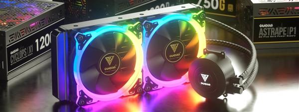 航空级润滑剂!GAMDIAS两款散热配件发布:1680万色RGB