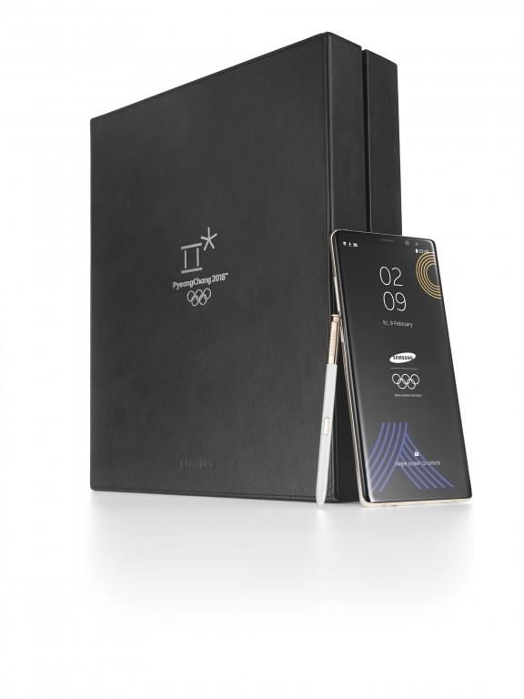 三星Note 8平昌东奥限量版发布:白色后盖、镶金S Pen
