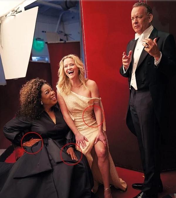 美著名杂志《名利场》封面照片PS失误 女星惊现3条腿