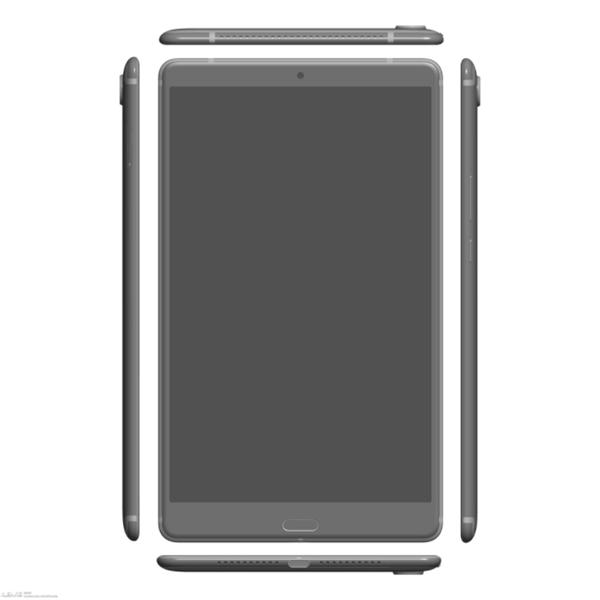 麒麟960/2K屏!华为MediaPad M5平板渲染图曝光
