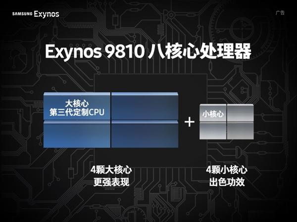 三星自曝Exynos 9810处理器频率:小核心高达1.9GHz