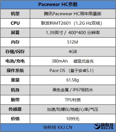 1099元!腾讯Pacewear HC周年限量版手表评测:性价比无敌